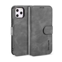 CaseMe - iPhone 12 Pro Max Hoesje - Magnetisch 2 in 1 Case - Ming Serie - Leren Back Cover - Grijs