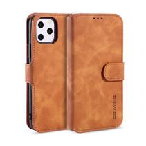 CaseMe - iPhone 12 Pro Max Hoesje - Magnetisch 2 in 1 Case - Ming Serie - Leren Back Cover - Licht Bruin