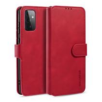 CaseMe - Samsung Galaxy A72 Hoesje - Met Magnetische Sluiting - Ming Serie - Leren Book Case - Rood