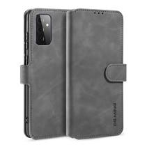 CaseMe - Samsung Galaxy A72 Hoesje - Met Magnetische Sluiting - Ming Serie - Leren Book Case - Grijs