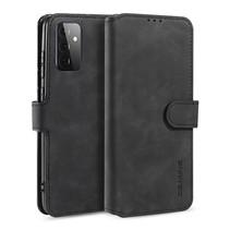 CaseMe - Samsung Galaxy A72 Hoesje - Met Magnetische Sluiting - Ming Serie - Leren Book Case - Zwart