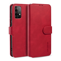 CaseMe - Samsung Galaxy A52 Hoesje - Met Magnetische Sluiting - Ming Serie - Leren Book Case - Rood