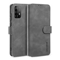 CaseMe - Samsung Galaxy A52 Hoesje - Met Magnetische Sluiting - Ming Serie - Leren Book Case - Grijs