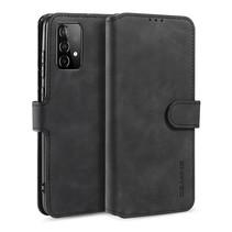 CaseMe - Samsung Galaxy A52 Hoesje - Met Magnetische Sluiting - Ming Serie - Leren Book Case - Zwart