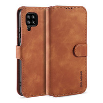 CaseMe - Samsung Galaxy A42 Hoesje - Met Magnetische Sluiting - Ming Serie - Leren Book Case - Licht Bruin