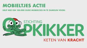 Mobieltjesactie voor Stichting Opkikker