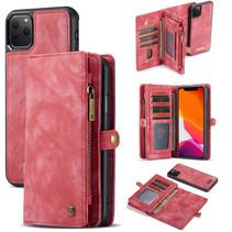 CaseMe - iPhone 11 Pro hoesje - 2 in 1 Wallet Book Case - Rood