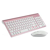 Universeel keyboard - Draadloos toetsenbord en Muis - Rosé-Goud
