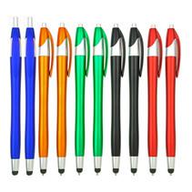 10 Stuks - Stylus Pen voor tablet en smartphone - Stylus en Balpen in één - Mix van kleuren