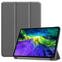 iPad Pro 2021 Hoes (11 Inch) - Tri-Fold Book Case - Grijs