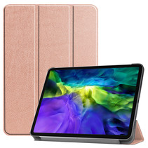 iPad Pro 2021 Hoes (11 Inch) - Tri-Fold Book Case - Rosé Goud