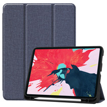 iPad Pro 2021 Hoes (11 Inch) - Cowboy Cover Book Case - Donker Blauw