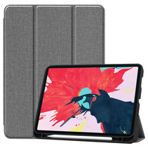 iPad Pro 2021 Hoes (11 Inch) - Cowboy Cover Book Case - Grijs