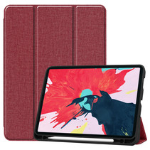 iPad Pro 2021 Hoes (11 Inch) - Cowboy Cover Book Case - Donker Rood