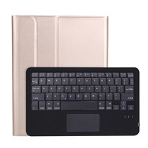 iPad Pro 2021 (11 Inch) Hoes - Bluetooth Toetsenbord hoes - Toetsenbord hoes met Touchpad - Goud