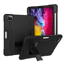 iPad Pro 2021 Hoes (11 Inch) - Schokbestendige Back Cover - Hybrid Armor Case - Zwart