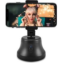 360 Graden Statief Smartphone - Geschikt voor TikTok en Instagram - Face Tracking - Telefoonhouder op Accu - Zwart