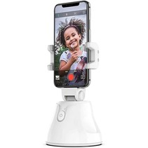 360 Graden Statief Smartphone - Geschikt voor TikTok en Instagram - Robot Cameraman - Face Tracking - Telefoonhouder - Wit