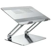 Laptop standaard - Universeel - Verstelbaar - Inklapbaar - Aluminium - 13, 14, 15, 16 en 17 inch - Antislip - Stabiel - Stand - Zilver