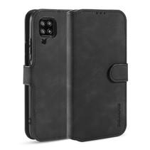 CaseMe - Samsung Galaxy A42 Hoesje - Met Magnetische Sluiting - Ming Serie - Leren Book Case - Zwart