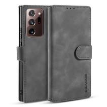 CaseMe - Samsung Galaxy Note 20 Ultra Hoesje - Magnetisch 2 in 1 Case - Ming Serie - Leren Back Cover - Grijs