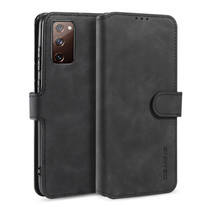 CaseMe - Samsung Galaxy S20 FE Hoesje - Magnetisch 2 in 1 Case - Ming Serie - Leren Back Cover - Zwart