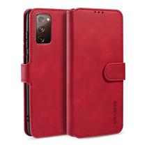 CaseMe - Samsung Galaxy S20 FE Hoesje - Magnetisch 2 in 1 Case - Ming Serie - Leren Back Cover - Rood