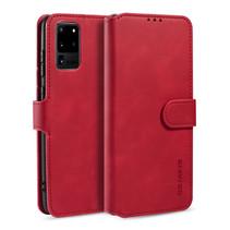 CaseMe - Samsung Galaxy S20 Hoesje - Met Magnetische Sluiting - Ming Serie - Leren Book Case - Rood