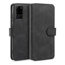 CaseMe - Samsung Galaxy S20 Ultra Hoesje - Met Magnetische Sluiting - Ming Serie - Leren Book Case - Zwart