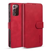CaseMe - Samsung Galaxy Note 20 Hoesje - Magnetisch 2 in 1 Case - Ming Serie - Leren Back Cover - Rood