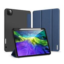iPad Pro 2021 (12.9 Inch) Hoes - Dux Ducis Domo Lite Book Case met stylus pen houder - Blauw
