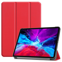iPad Pro 2021 (12.9 Inch) Hoes - Tri-Fold Book Case - Rood