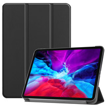 iPad Pro 2021 (12.9 Inch) Hoes - Tri-Fold Book Case - Zwart
