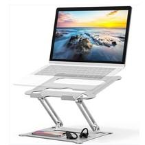 Ergonomische Laptop Standaard - Verstelbaar - Geschikt voor 12 tot 17 inch - Aluminium - Zilver
