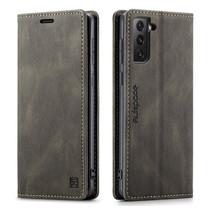 AutSpace - Samsung Galaxy S21 Ultra hoesje - Wallet Book Case - Magneetsluiting - met RFID bescherming - Bruin