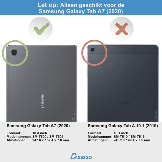 Case2go Samsung Galaxy Tab A7 10.4 Case - Bluetooth toetsenbord hoes - QWERTY layout - Magneetsluiting - Sleep/Wake-up functie - Zwart
