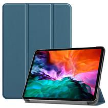 iPad Pro 2021 (12.9 Inch) Hoes - Tri-Fold Book Case - Marine Blauw