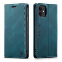 AutSpace - iPhone 11 hoesje - Wallet Book Case - Magneetsluiting - met RFID bescherming - Blauw