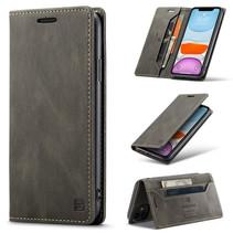 AutSpace - iPhone 11 hoesje - Wallet Book Case - Magneetsluiting - met RFID bescherming - Bruin