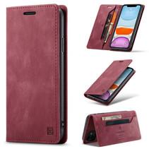 AutSpace - iPhone 11 hoesje - Wallet Book Case - Magneetsluiting - met RFID bescherming - Rood