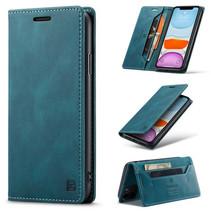 AutSpace - iPhone 11 Pro hoesje - Wallet Book Case - Magneetsluiting - met RFID bescherming - Blauw