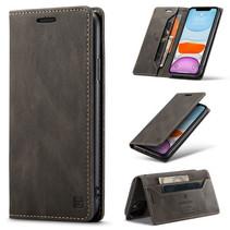 AutSpace - iPhone 11 Pro hoesje - Wallet Book Case - Magneetsluiting - met RFID bescherming - Bruin