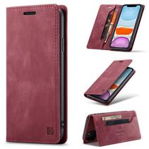 AutSpace - iPhone 11 Pro Max hoesje - Wallet Book Case - Magneetsluiting - met RFID bescherming - Rood