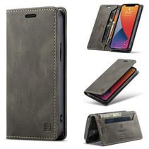 AutSpace - iPhone 12 Mini hoesje - Wallet Book Case - Magneetsluiting - met RFID bescherming - Bruin