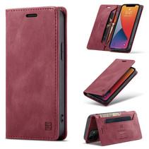 AutSpace - iPhone 12 Mini hoesje - Wallet Book Case - Magneetsluiting - met RFID bescherming - Rood