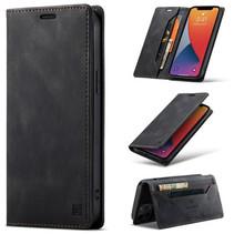 AutSpace - iPhone 12 Pro Max hoesje - Wallet Book Case - Magneetsluiting - met RFID bescherming - Zwart