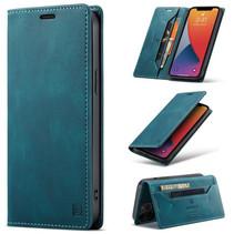 AutSpace - iPhone 12 Pro Max hoesje - Wallet Book Case - Magneetsluiting - met RFID bescherming - Blauw