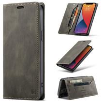 AutSpace - iPhone 12 Pro Max hoesje - Wallet Book Case - Magneetsluiting - met RFID bescherming - Bruin