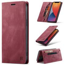 AutSpace - iPhone 12 Pro Max hoesje - Wallet Book Case - Magneetsluiting - met RFID bescherming - Rood