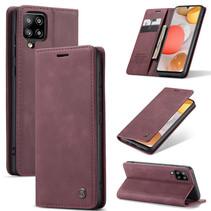 CaseMe - Samsung Galaxy A42 5G hoesje - Wallet Book Case - Magneetsluiting - Donker Rood